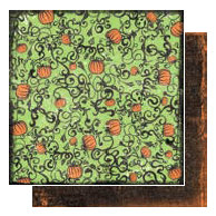 Glitz Design - Hallow Collection - 12x12 Double Sided Paper - Pumpkins, CLEARANCE