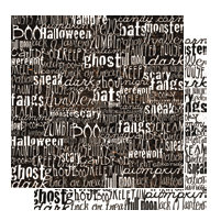 Glitz Design - Hallow Collection - 12x12 Double Sided Paper - Words, CLEARANCE