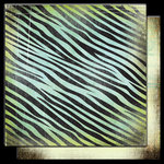Glitz Design - Hoopla Collection - 12 x 12 Double Sided Paper - Zebra, CLEARANCE