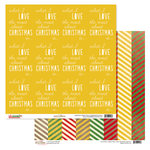 Glitz Design - Hello December Collection - Christmas - 12 x 12 Double Sided Paper - Love