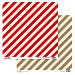 Glitz Design - Hello December Collection - Christmas - 12 x 12 Double Sided Paper - Stripe