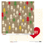 Glitz Design - Hello December Collection - Christmas - 12 x 12 Double Sided Paper - Trees