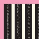 Glitz Designs - Hot Mama Collection - 12x12 Double Sided Paper - Curly Stripe