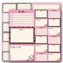 Glitz Design - Hot Mama Collection - 12x12 Journaling Cards