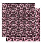 Glitz Design - Hot Mama Collection - 12x12 Double Sided Paper - Damask