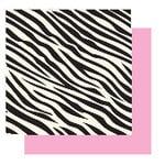 Glitz Design - Hot Mama Collection - 12x12 Double Sided Paper - Hot Mama Zebra
