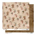 Glitz Design - Joyeux Noel Collection - Christmas - 12 x 12 Double Sided Paper - Santa