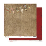 Glitz Design - Joyeux Noel Collection - Christmas - 12 x 12 Double Sided Paper - Banner