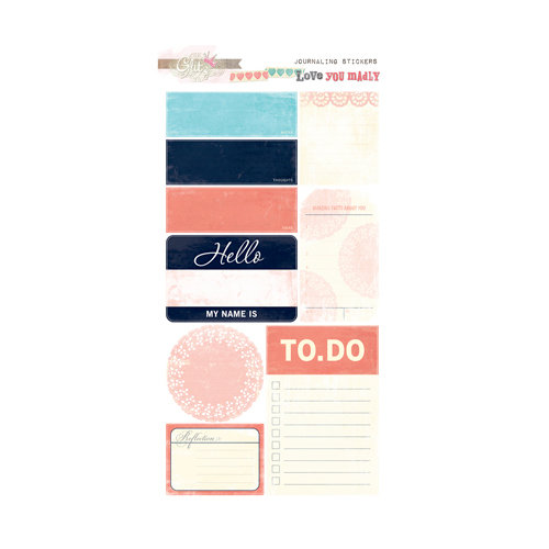 Glitz Design - Love You Madly Collection - Cardstock Stickers - Journaling