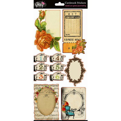 Glitz Design - Laced with Grace Collection - Cardstock Stickers - Journaling
