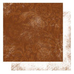 Glitz Design - Kismet Collection - 12 x 12 Double Sided Paper - Brown