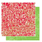 Glitz Design - Kringle Collection - 12x12 Double Sided Paper - Flourish, CLEARANCE