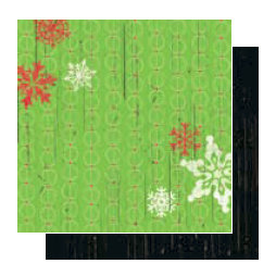 Glitz Design - Kringle Collection - 12x12 Double Sided Paper - Snowflakes, CLEARANCE
