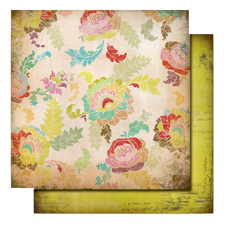 Glitz Design - Love Nest Collection - 12 x 12 Double Sided Paper - Floral, CLEARANCE