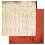 Glitz Design - Love Games Collection - 12 x 12 Double Sided Paper - Polka, BRAND NEW