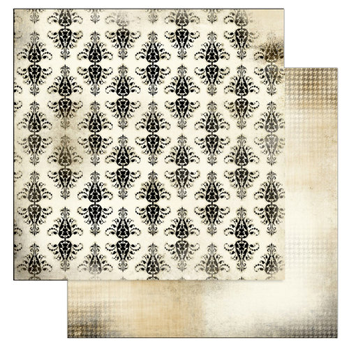 Glitz Design - Love Games Collection - 12 x 12 Double Sided Paper - Damask, BRAND NEW