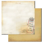 Glitz Design - Love Games Collection - 12 x 12 Double Sided Paper - Scorecard, CLEARANCE