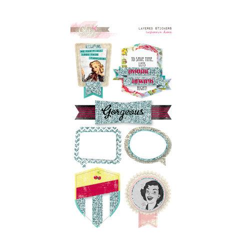 Glitz Design - Cashmere Dame Collection - Layered Stickers