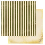 Glitz Design - Laced with Grace Collection - 12 x 12 Double Sided Paper - Stripe, BRAND NEW