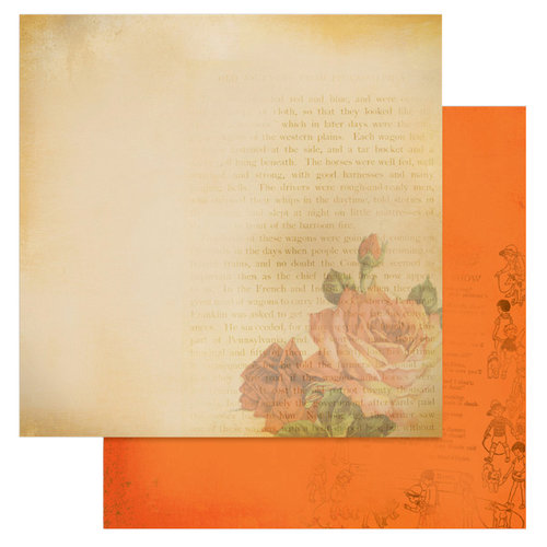 Glitz Design - Laced with Grace Collection - 12 x 12 Double Sided Paper - Rose