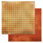 Glitz Design - Laced with Grace Collection - 12 x 12 Double Sided Paper - Plaid, BRAND NEW