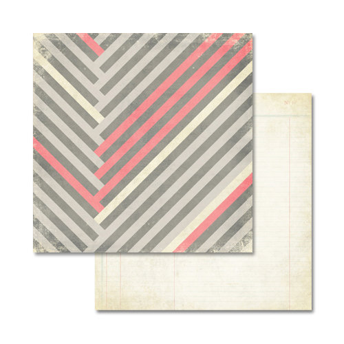 Glitz Design - Love You Madly Collection - 12 x 12 Double Sided Paper - Stripe