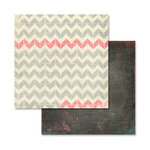 Glitz Design - Love You Madly Collection - 12 x 12 Double Sided Paper - Herringbone
