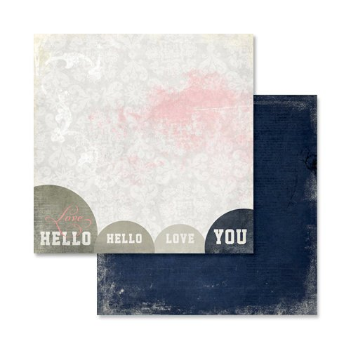 Glitz Design - Love You Madly Collection - 12 x 12 Double Sided Paper - Hello