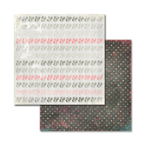 Glitz Design - Love You Madly Collection - 12 x 12 Double Sided Paper - Ampersand