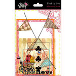 Glitz Design - Afternoon Muse Collection - Transparency Pieces - Peek-A-Boo, CLEARANCE