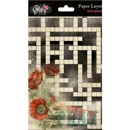 Glitz Design - Love Games Collection - Paper Layers, BRAND NEW