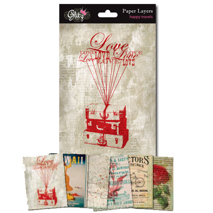 Glitz Design - Happy Travels Collection - Paper Layers