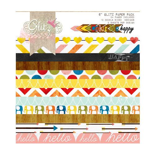 Glitz Design - Color Me Happy Collection - 6 x 6 Paper Pad