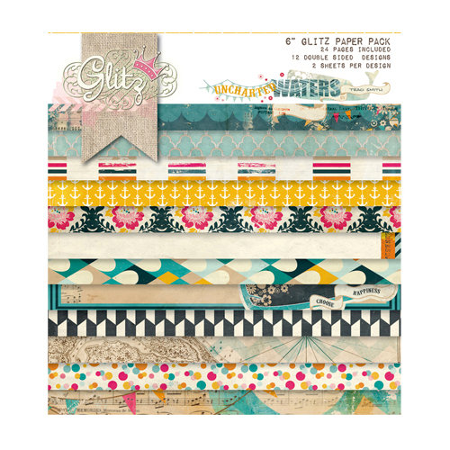 Glitz Design - Uncharted Waters Collection - 6 x 6 Paper Pad