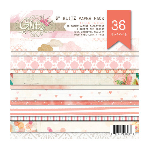 Glitz Design - Hello Friend Collection - 6 x 6 Paper Pad