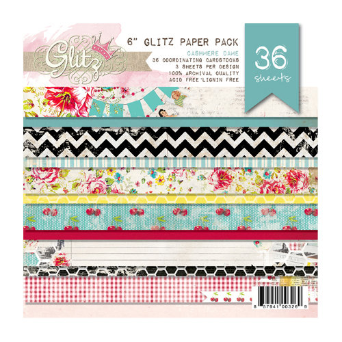 Glitz Design - Cashmere Dame Collection - 6 x 6 Paper Pad