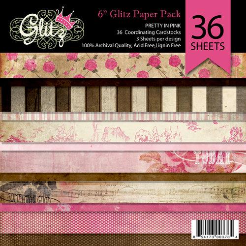Glitz Design - Pretty in Pink Collection - 6 x 6 Paper Pad