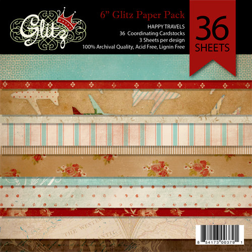 Glitz Design - Happy Travels Collection - 6 x 6 Paper Pad
