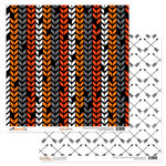 Glitz Design - Raven Collection - Halloween - 12 x 12 Double Sided Paper - Chevron