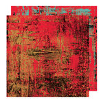 Glitz Design - Rebel Collection - 12 x 12 Double Sided Paper - Rebel Red, BRAND NEW