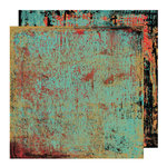 Glitz Design - Rebel Collection - 12 x 12 Double Sided Paper - Rebel Teal, BRAND NEW