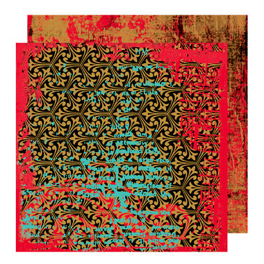 Glitz Design - Rebel Collection - 12 x 12 Double Sided Paper - Rebel Grunge, BRAND NEW