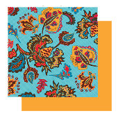 Glitz Designs - Rhapsody Collection - 12x12 Double Sided Paper - Rhapsody Floral Grid, CLEARANCE
