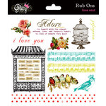 Glitz Design - Love Nest Collection - Rub Ons, CLEARANCE