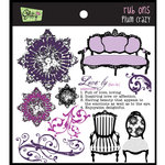 Glitz Design - Plum Crazy Collection - Rub Ons - Plum Crazy, BRAND NEW