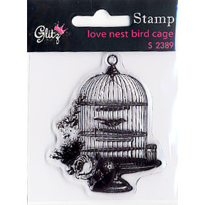 Glitz Design - Love Nest Collection - Clear Acrylic Stamps - Love Nest, BRAND NEW