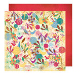 Glitz Design - Sparrow Collection - 12 x 12 Double Sided Paper - Sparrow Floral, CLEARANCE