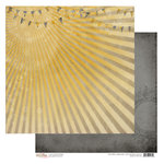 Glitz Design - Sunshine in My Soul Collection - 12 x 12 Double Sided Paper - Rays