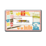 Glitz Design - Color Me Happy Collection - Rubber Stamps