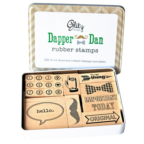 Glitz Design - Dapper Dan Collection - Rubber Stamps